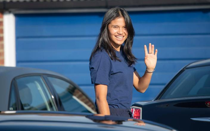 The winner returns Emma Raducanu is reunited with her father Ian as she arrive at her south London home. Bromley 16th September 2021 - Brand Emma Raducanu makes next move to break into the Chinese market - DAVID ROSE