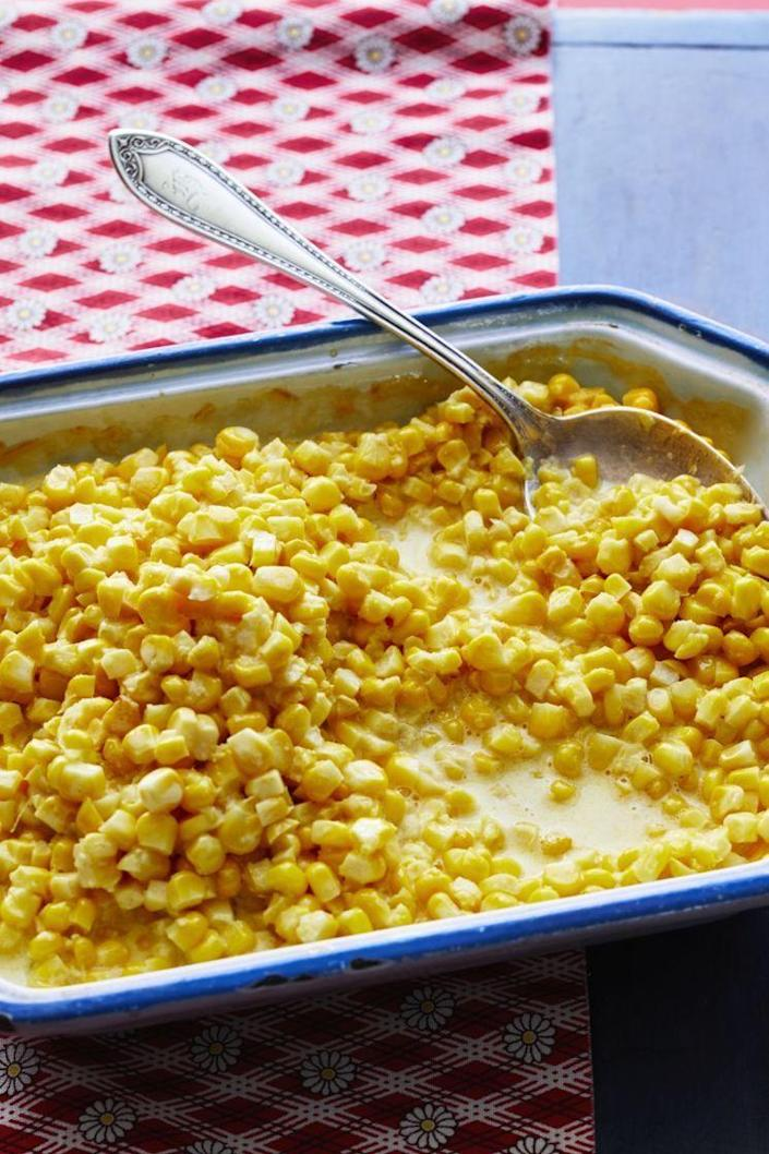 """<p>Make the most of your summer corn by turning it into a simple, comforting casserole dish. It's a winner at any barbecue dinner. </p><p><a href=""""https://www.thepioneerwoman.com/food-cooking/recipes/a10229/fresh-corn-cass/"""" rel=""""nofollow noopener"""" target=""""_blank"""" data-ylk=""""slk:Get Ree's recipe."""" class=""""link rapid-noclick-resp""""><strong>Get Ree's recipe. </strong></a></p><p><a class=""""link rapid-noclick-resp"""" href=""""https://go.redirectingat.com?id=74968X1596630&url=https%3A%2F%2Fwww.walmart.com%2Fsearch%2F%3Fquery%3Dpioneer%2Bwoman%2Bcasserole&sref=https%3A%2F%2Fwww.thepioneerwoman.com%2Ffood-cooking%2Fmeals-menus%2Fg36353420%2Ffourth-of-july-side-dishes%2F"""" rel=""""nofollow noopener"""" target=""""_blank"""" data-ylk=""""slk:SHOP CASSEROLES"""">SHOP CASSEROLES</a></p>"""