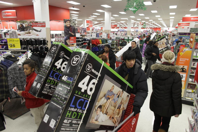 Shoppers fill a Target Store on Black Friday in Chicago, November 25, 2011. (Photo by John Gress/Corbis via Getty Images)