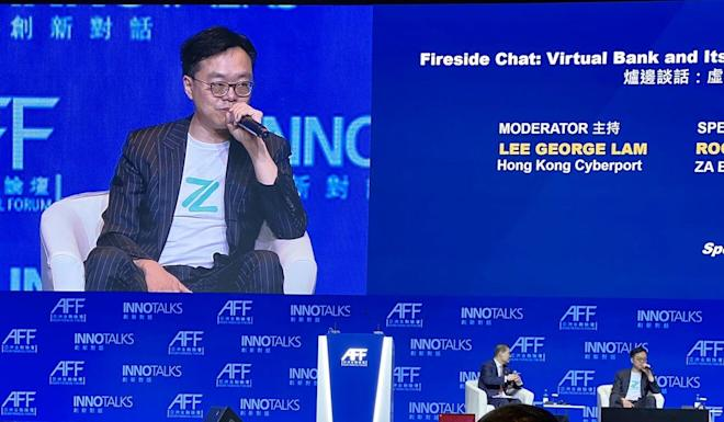 Rockson Hsu of ZA Bank speaks during a panel discussion. Photo: Twitter