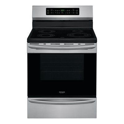 Frigidaire 30-in 4 element 5.4 cu ft Induction Range with Self-cleaning Convection Oven stainless steel