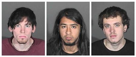 Suspects in the Colby wildfire are seen in Glendora Police Department booking photos