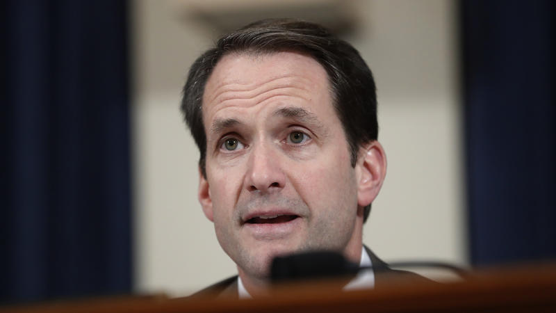 U.S. Rep. Jim Himes (D-CT) questions State Department official David Hale during the House Intelligence Committee on Capitol Hill in Washington, Wednesday, Nov. 20, 2019, during a public impeachment hearing of President Donald Trump's efforts to tie U.S. aid for Ukraine to investigations of his political opponents. (Photo: Andrew Harnik/AP)