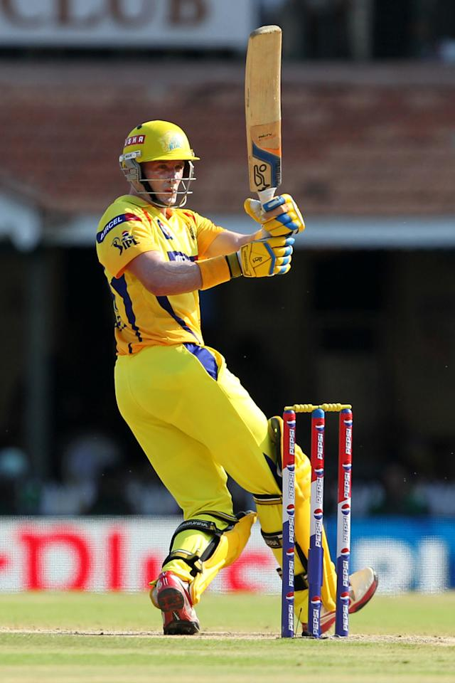 Michael Hussey during match 38 of the Pepsi Indian Premier League between The Chennai Superkings and the Kolkata Knight Riders held at the MA Chidambaram Stadiumin Chennai on the 28th April 2013. (BCCI)