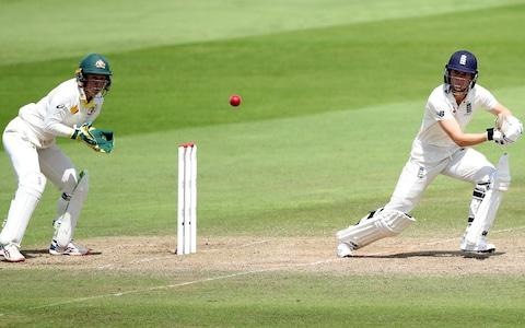 <span>Amy Jones led the England fightback, but she too fell for 64</span> <span>Credit: Reuters </span>
