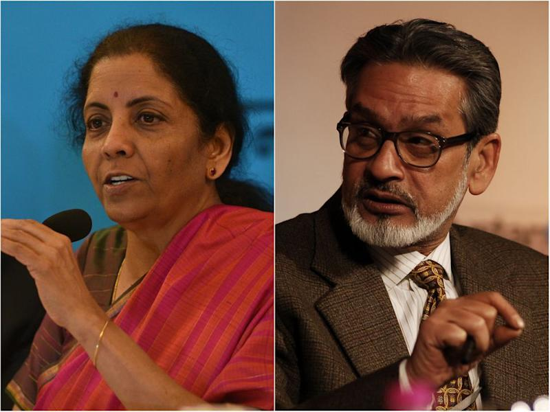 Finance Minister Nirmala Sitharaman, India's Former Chief Statistician Dr Pronab Sen