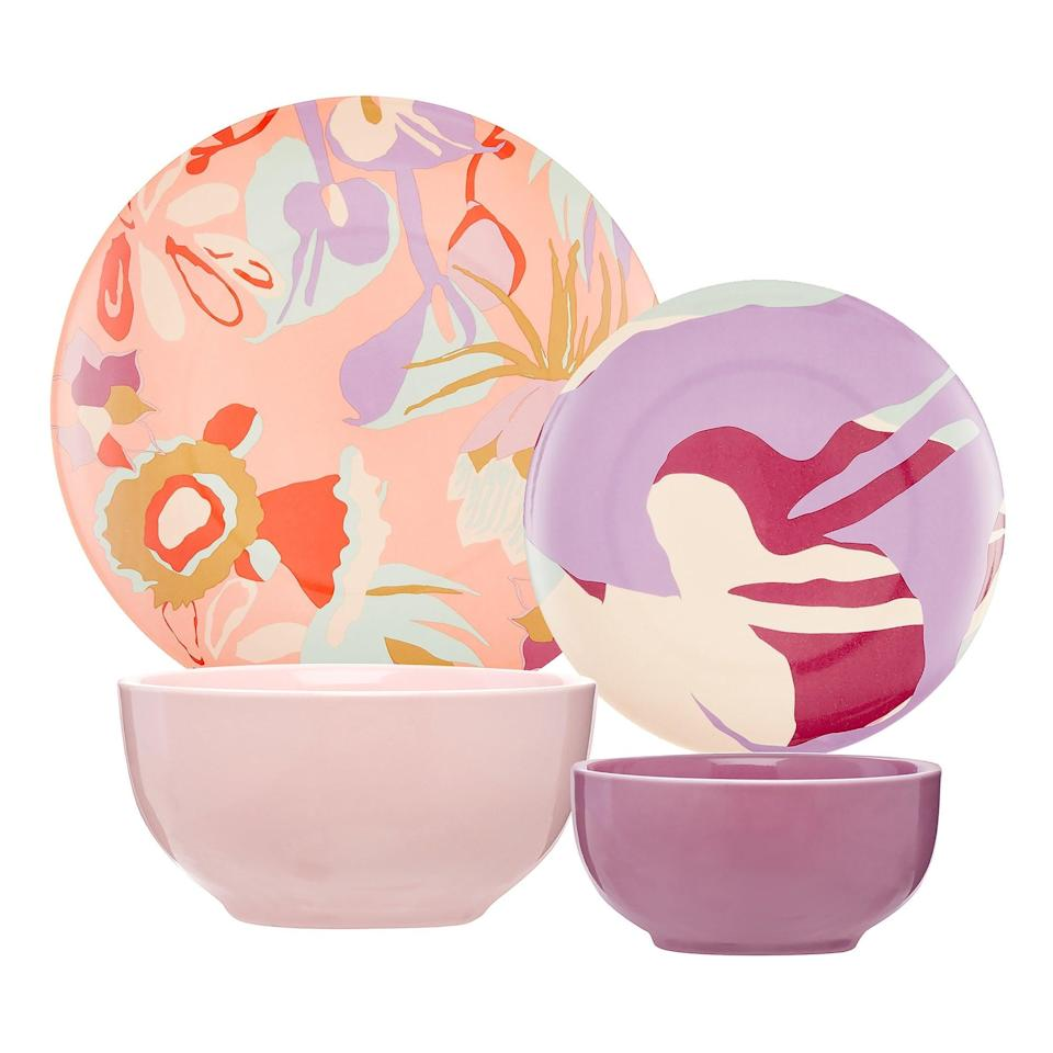 <p>We'd eat off of this <span>Drew Barrymore Flower Home Botanical Watercolor 16 Piece Dinnerware Set</span> ($60) any day of the week.</p>