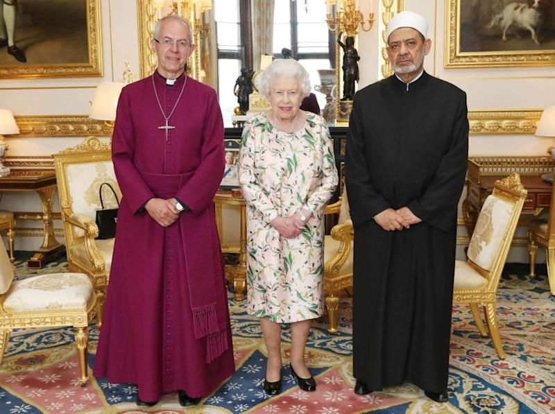 Archbishop of Canterbury, Queen Elizabeth and Sheikh Ahmad Al-Tayeb