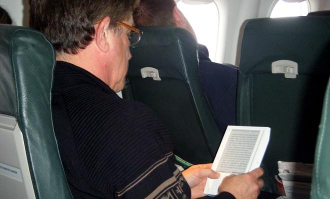 Kindle readers may soon be liberated during takeoff and landing. Or you could just bring an old-fashioned paper book...