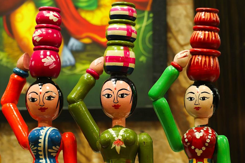 It is said that King Tipu Sultan who ruled Mysuru from 1750 to 1799 received a lacquered Persian toy which excited him enough to send for artisans from there to train some of his people. And that's how the wooden toys made in Channapatna became famous