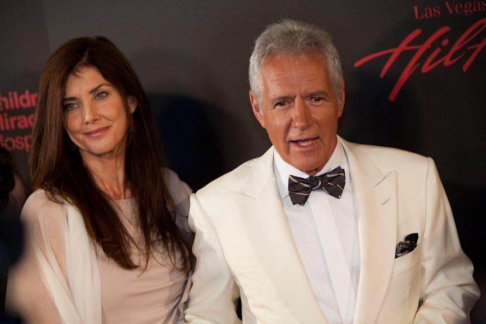 Alex Trebek, right, and his wife, Jean Currivan, in 2011.