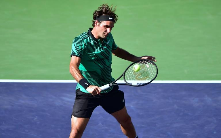 Roger Federer, pictured in action on March 19, 2017, captured his 90th career title in Indian Wells