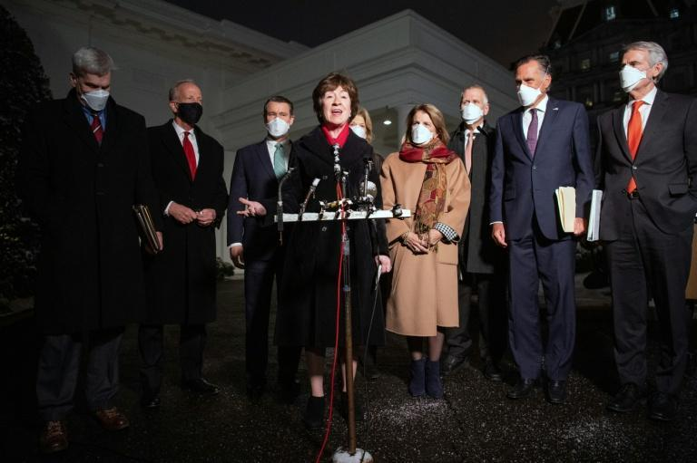 Senator Susan Collins (C) said no agreement was reached on an economic relief plan following a meeting between the group of 10 Republican lawmakers and US President Joe Biden