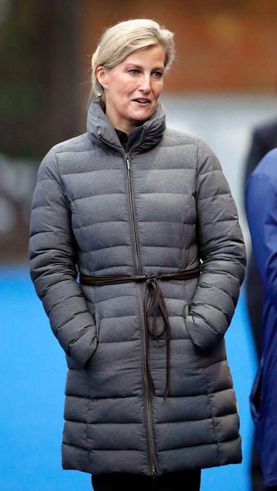 <p>Sophie sported a puffy coat to attend an England Hockey team training session at Bisham Abbey National Sports Centre with her daughter, Lady Louise.</p>