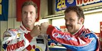 <p><strong><em>Talladega Nights: The Ballad of Ricky Bobby </em></strong></p><p>The Talladega Speedway is in Alabama but Ricky Bobby is from North Carolina where much of the comedy takes place. <br></p>