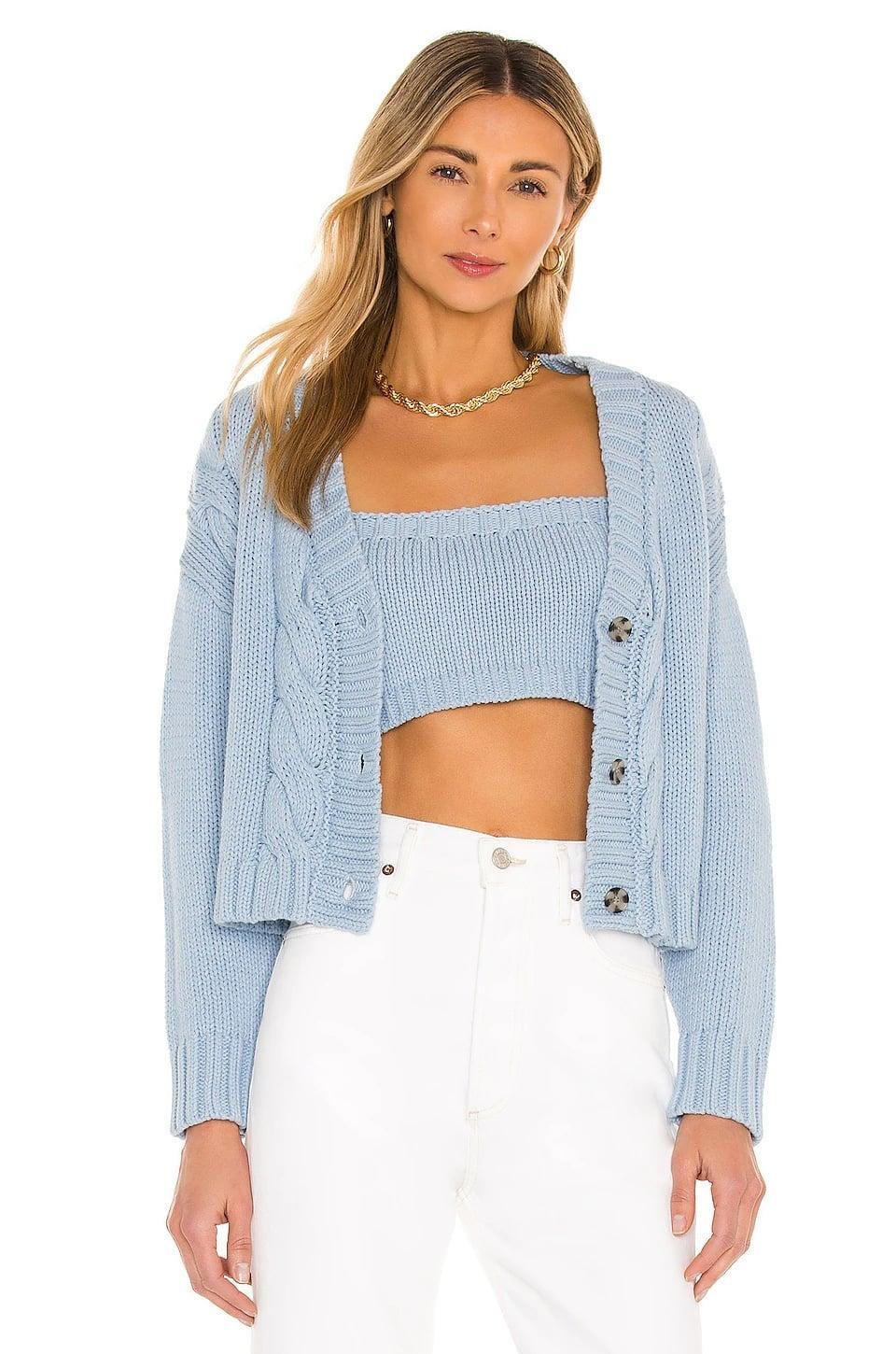<p>I love a matching sweater set, and this <span>Callahan Lu Cardigan Set</span> ($132) is perfect for spring.</p>