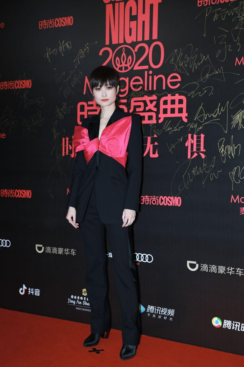 <p><strong>2 December </strong>Actress Li Yuchun, otherwise known as Chris Lee, wore a striking Alexander McQueen suit to attend the 2020 Cosmo Glam Night in Shanghai.</p>