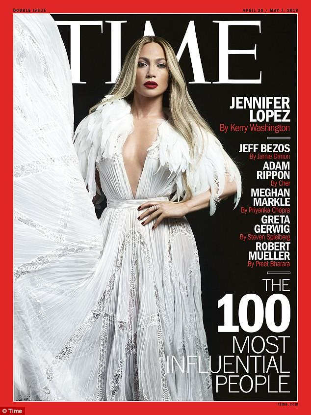 Still going strong: Jennifer Lopez landed one of the 2018 TIME 100 covers, which has its annual list of the 100 most influential people in the world