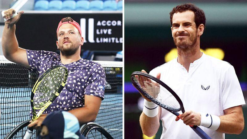 Pictured right, Andy Murray shared Dylan Alcott's anger about the US Open scrapping the wheelchair competition.