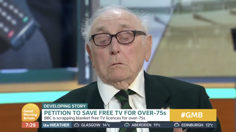 World War Two veteran Victor Gregg says the BBC are 'robbing the piggy bank' of the generation that saved the world (ITV)