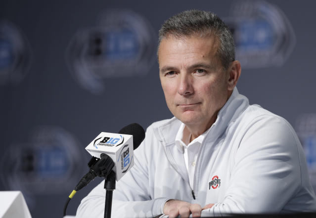 Urban Meyer will coach Ohio State in the Rose Bowl and then the team will be led by Ryan Day. (AP)