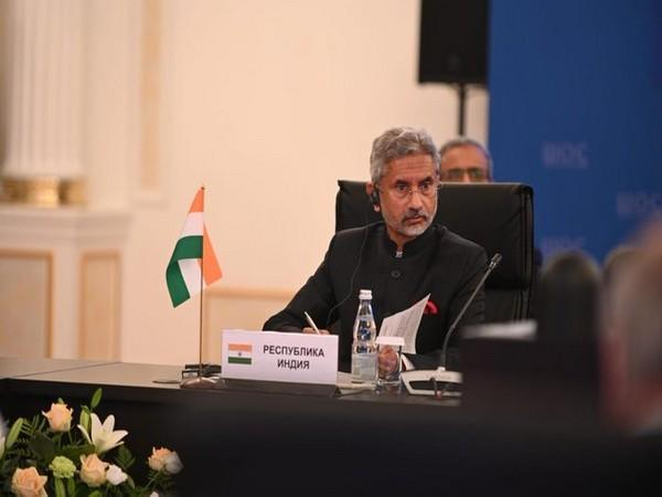 External Affairs Minister S Jaishankar at the SCO Foreign Ministers' meet in Moscow on Thursday.