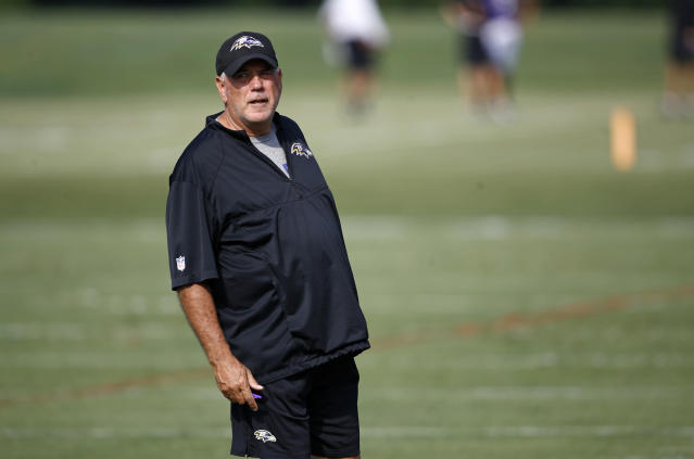 Baltimore Ravens defensive coordinator Dean Pees has decided to retire. (AP)