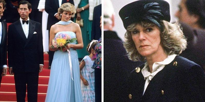 """During a1995 interview with the BBC's Martin Bashir, the late Princess Diana <a href=""""https://www.huffingtonpost.com/entry/a-look-back-on-princess-dianas-heartbreaking-divorce_us_55df7cc6e4b0c818f6174f08"""">addressed Prince Charles' alleged affair</a> with Camilla Parker-Bowles — an old friend <a href=""""http://www.bbc.co.uk/history/events/prince_charles_and_camilla_parker_bowles_wedding"""" target=""""_blank"""">he'd go onto marry in 2005</a>. <br /><br />""""There were three in the marriage, so it was a bit crowded,"""" she quipped. <br /><br />A month after giving the interview, Queen Elizabeth II urged the couple, who were separated at the time, to get<a href=""""http://www.nytimes.com/1995/12/21/world/queen-urges-prince-charles-and-diana-to-divorce-soon.html"""" target=""""_hplink"""" data-beacon-parsed=""""true"""">""""an early divorce""""</a>—<a href=""""http://www.history.com/this-day-in-history/charles-and-diana-divorce"""" target=""""_blank"""" data-beacon-parsed=""""true"""">which they did on Aug. 28, 1996.</a>"""
