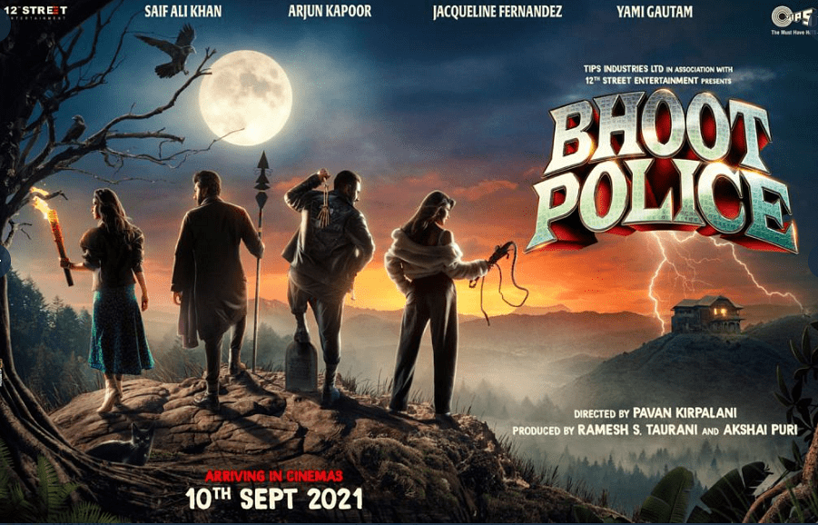 The cast of <i>Bhoot Police </i>in the film's poster