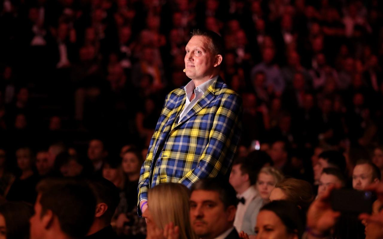Doddie Weir waits to receive the Helen Rollaston Award at Sports Personality of the Year - PA