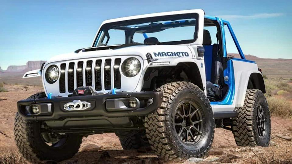 Jeep unveils an all-electric Magneto concept off-roader: Details here