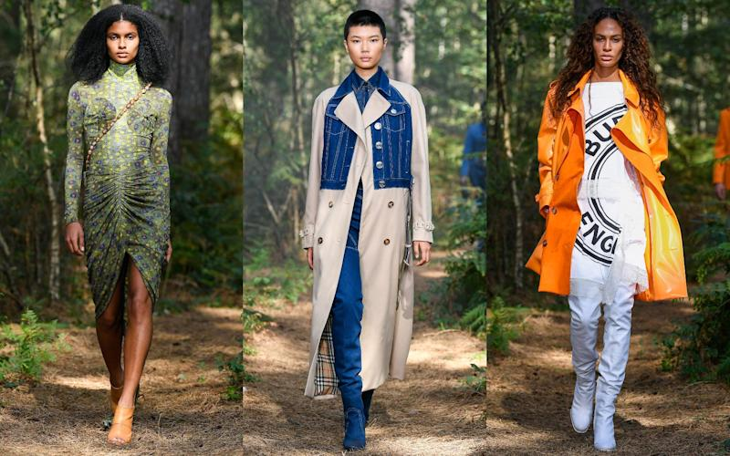 Burberry's spring/ summer 2021 show took place in a forest in the UK - Burberry