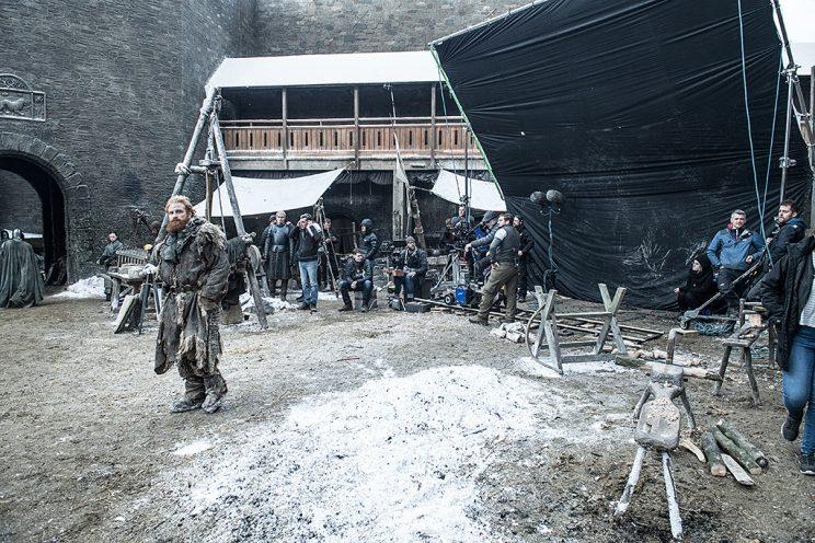Game of thrones world tour a guide to seven kingdoms filming kristofer hivju as tormund giantsbane on the set of hbos game of thrones photo gumiabroncs Gallery
