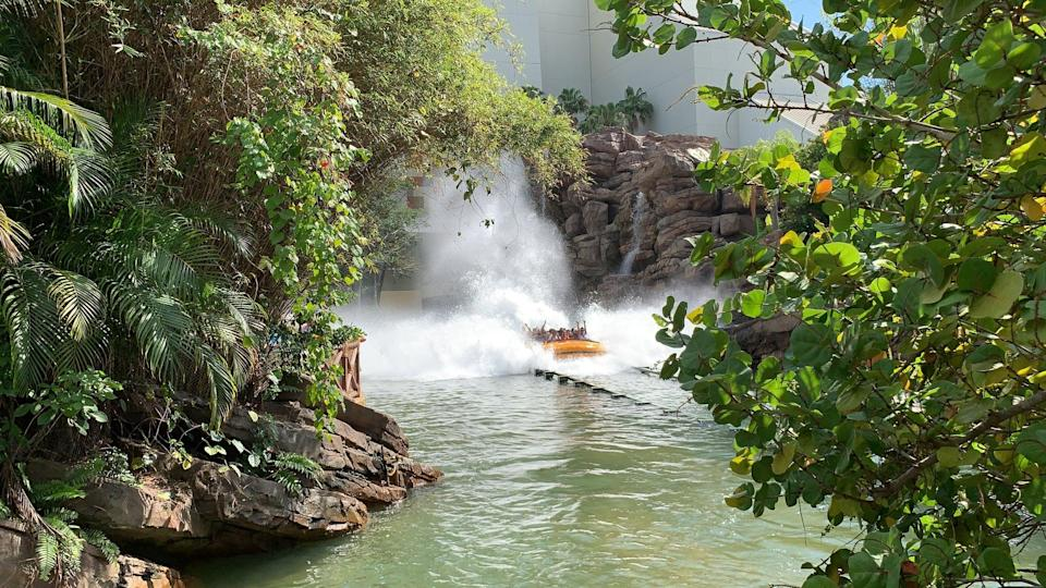 <p>Most theme parks have a ride or two that are designed to get you completely soaked. You have to give up on your hair and makeup looking anything like they did when you started the day, but the splash down at the end of the ride is worth it.</p>