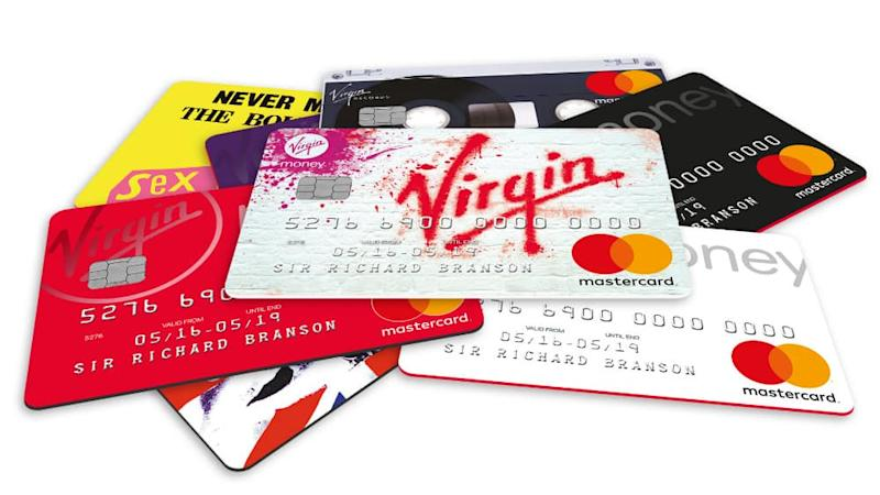 A selection of Virgin Money credit cards