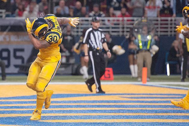 Gurley is a no doubt first-round pick, but where does he stack up against other elite RBs? (Getty)