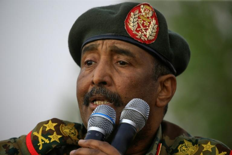 General Abdel Fattah al-Burhan, the head of Sudan's new civilian-majority sovereign council, was propelled into the limelight in April when he took the helm of the military junta that ousted longime president Omar al-Bashir (AFP Photo/ASHRAF SHAZLY)