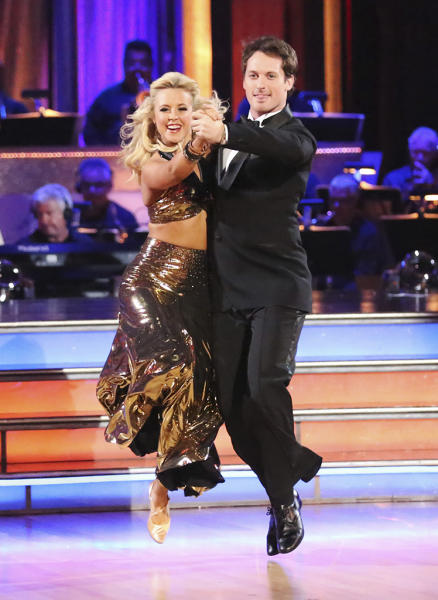 """Chelsie Hightower and Tristan MacManus perform on """"Dancing With the Stars."""""""