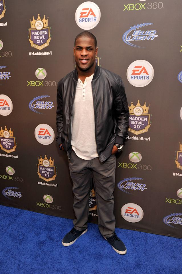 NEW ORLEANS, LA - JANUARY 31:  NFL player DeMarco Murray of the Dallas Cowboys arrives at EA SPORTS Madden Bowl XIX at the Bud Light Hotel on January 31, 2013 in New Orleans, Louisiana.  (Photo by Stephen Lovekin/Getty Images for Bud Light)