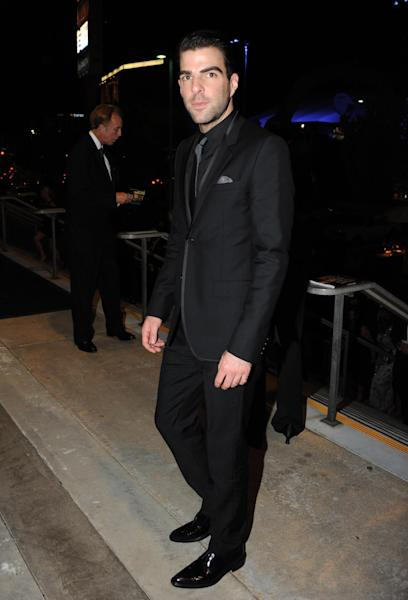 Zachary Quinto poses for a photo at the Governors Ball at the 65th Primetime Emmy Awards at the Nokia Theatre, Sunday, Sept. 22, 2013, in Los Angeles. (Photo by Richard Shotwell/Invision /AP)