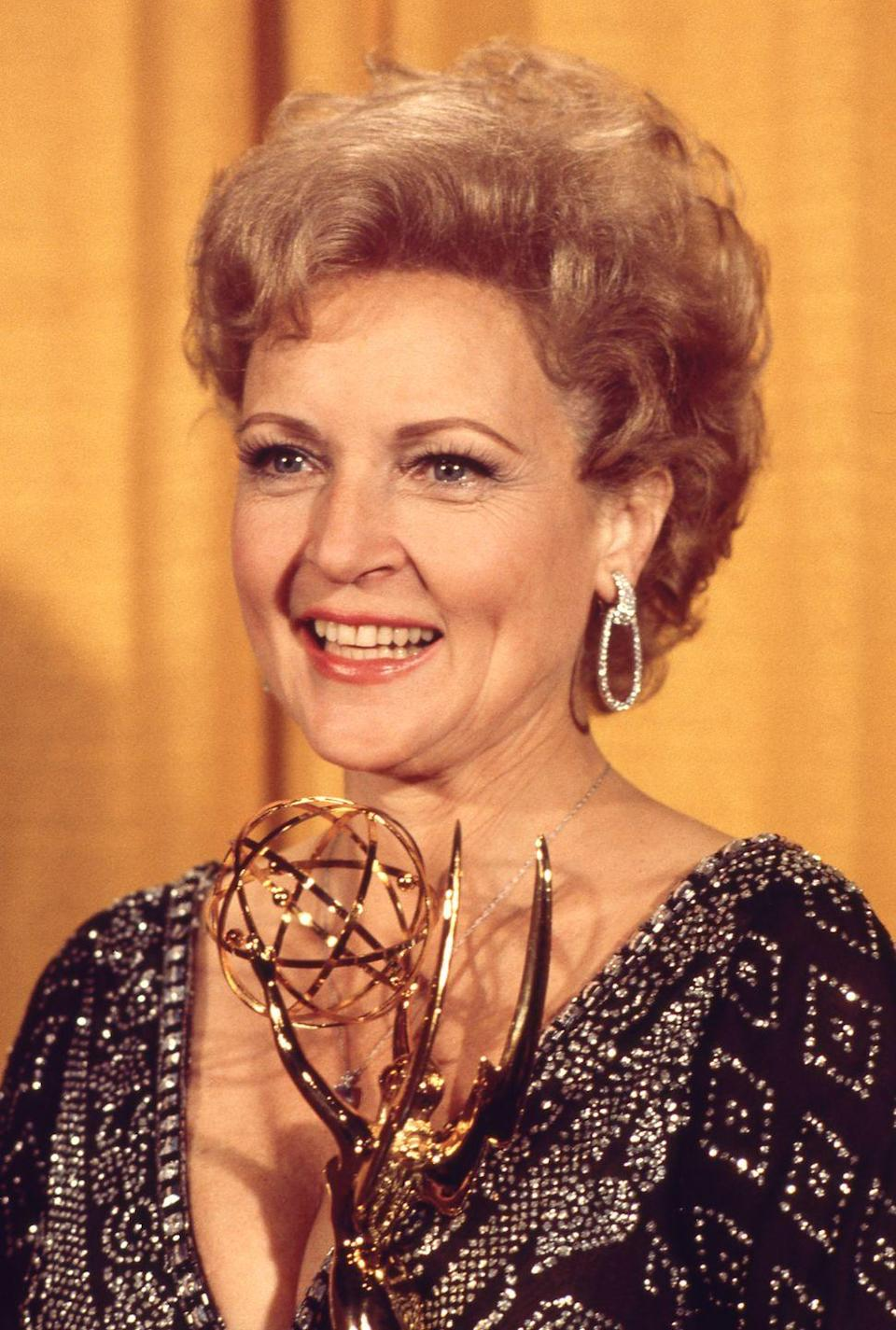 <p>White's portrayal of Sue Ann in <em>The Mary Tyler Moore Show</em> led to her winning two Emmy Awards for Best Supporting Actress in a Comedy Series. <br></p>