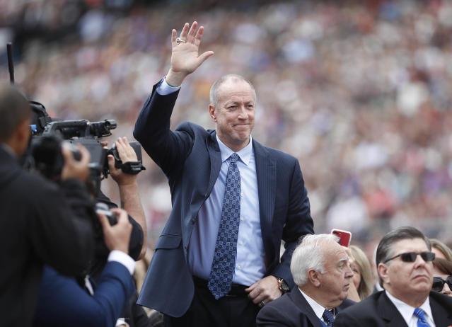 Jim Kelly has been fighting cancer repeatedly for the last five years. (AP Photo/Pablo Martinez Monsivais)
