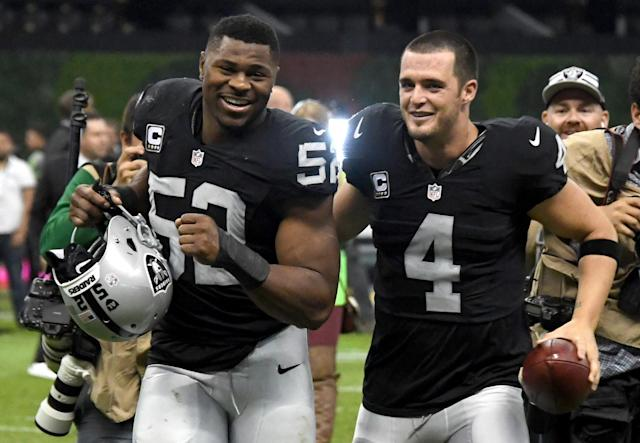 <p>Khalil Mack is going to the Chicago Bears and two of the biggest Raiders players voiced their frustration on Twitter.</p>