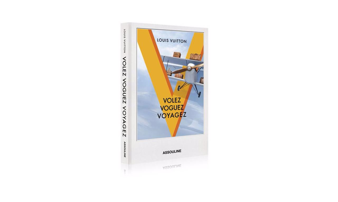 "<p>Louis Vuitton book, $50, <a rel=""nofollow"" href=""http://us.louisvuitton.com/eng-us/products/volez-voguez-voyagez-louis-vuitton-album-013697"">louisvuitton.com</a> </p>"