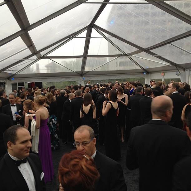The crowd at the Yahoo! News/ABC party at the #WHCD