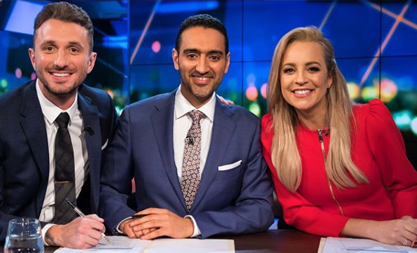 the project Carrie Bickmore and Waleed Aly, with Tommy Little