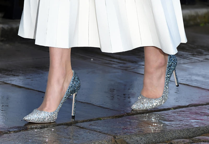 A pair of the royal's go-to Jimmy Choo heels earned her extra style points [Photo: Getty]