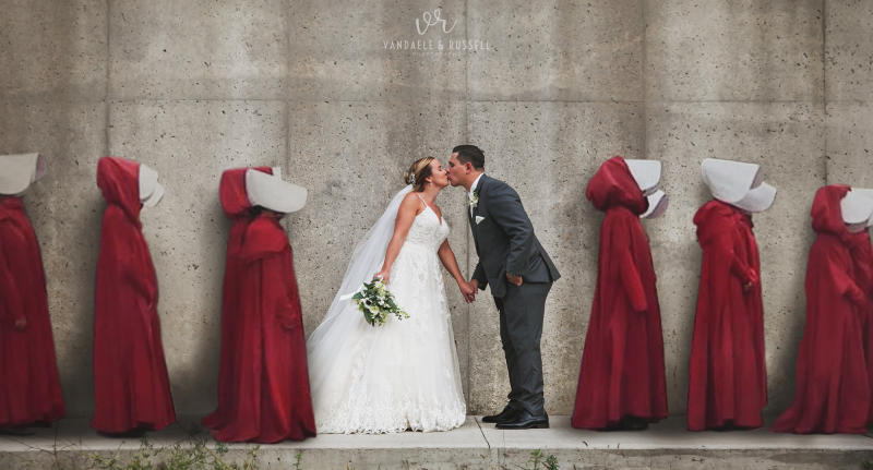 'Handmaid's Tale' wedding photos slammed as 'tone deaf'
