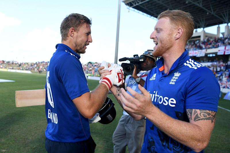 Handshakes | Joe Root (left) made 90 not out to help England beat West Indies in the second ODI: Getty Images