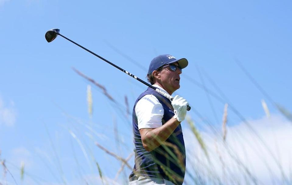 Phil Mickelson has criticised the decision to restrict club length in an attempt to rein in driving distances (Gareth Fuller/PA) (PA Wire)